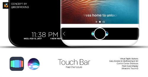 Mẫu iPhone thứ 10 sẽ có vỏ gốm Ceramic, Touch Bar - 2