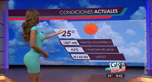 Nữ MC khiến khán giả muốn xem dự báo thời tiết cả ngày - 2