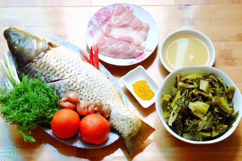 Ngon cơm với cá chép om dưa - 1