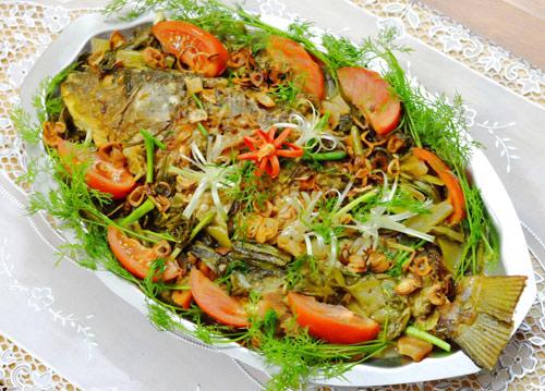 Ngon cơm với cá chép om dưa - 8