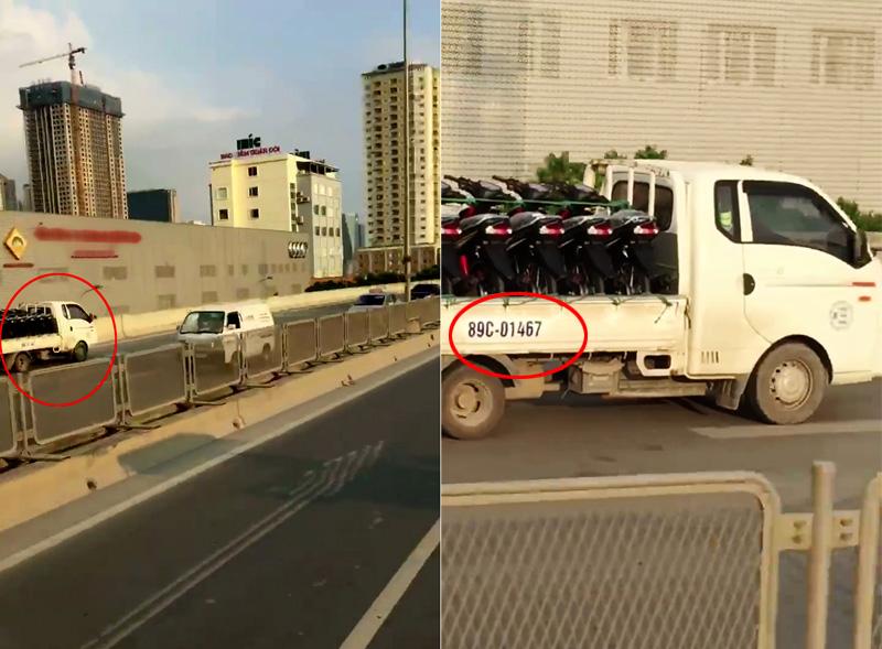 Clip: Xe tải chạy ngược chiều vun vút ở đường trên cao - 1