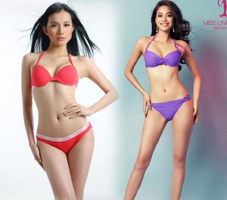 Đọ sắc bikini nóng bỏng của 2 Hoa hậu hoàn vũ Việt Nam - 1