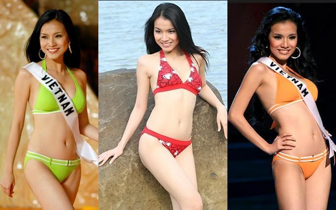 Đọ sắc bikini nóng bỏng của 2 Hoa hậu hoàn vũ Việt Nam - 3