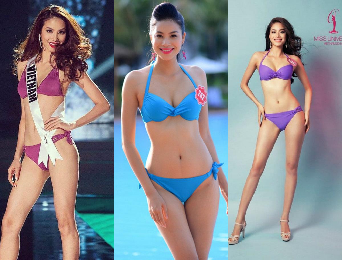 Đọ sắc bikini nóng bỏng của 2 Hoa hậu hoàn vũ Việt Nam - 7
