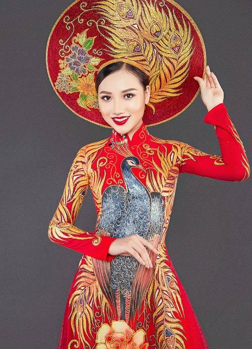 Mỹ nữ thi Hoa hậu châu Á khoe áo dài chim công lộng lẫy - 2