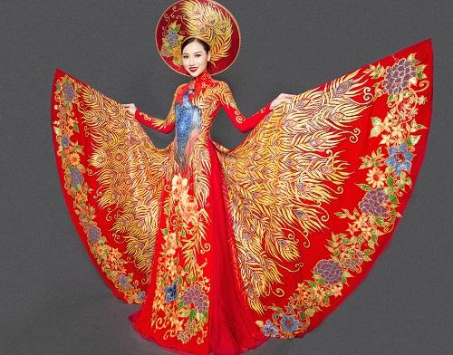 Mỹ nữ thi Hoa hậu châu Á khoe áo dài chim công lộng lẫy - 3