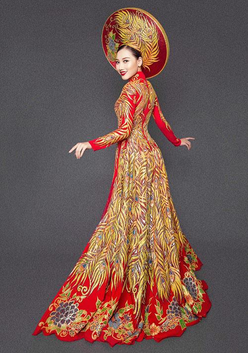 Mỹ nữ thi Hoa hậu châu Á khoe áo dài chim công lộng lẫy - 4