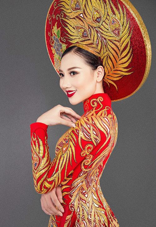 Mỹ nữ thi Hoa hậu châu Á khoe áo dài chim công lộng lẫy - 5