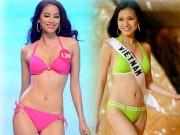 Thời trang - Đọ sắc bikini nóng bỏng của 2 Hoa hậu hoàn vũ Việt Nam