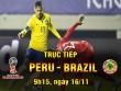 """CHI TIẾT Peru - Brazil: """"Điệu sam-ba"""" tưng bừng"""