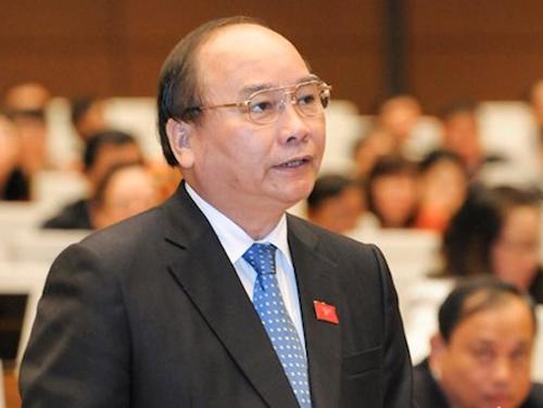 Thủ tướng Nguyễn Xuân Phúc trực tiếp trả lời chất vấn - 1