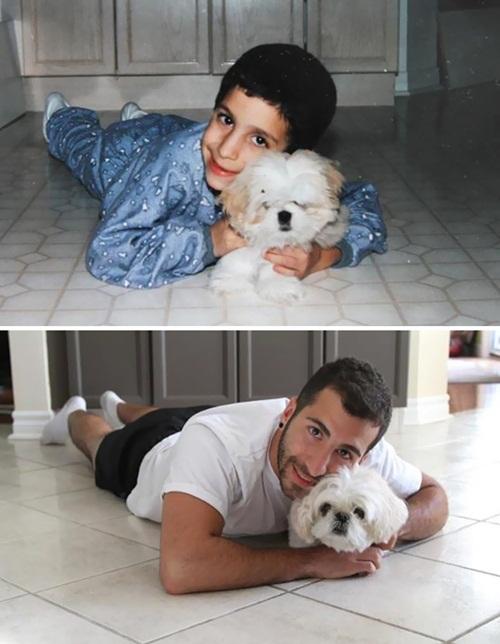 Cảm động hình ảnh chú chó và chủ cùng nhau lớn lên - 5
