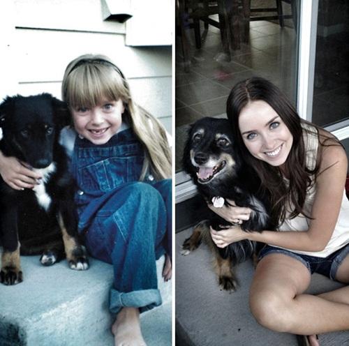 Cảm động hình ảnh chú chó và chủ cùng nhau lớn lên - 8