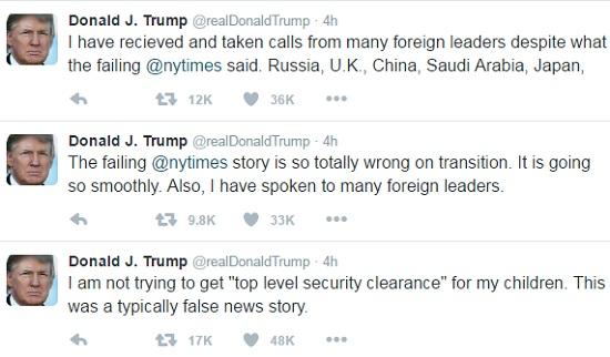 Tổng thống Mỹ đắc cử Trump lại gây chiến với truyền thông - 2