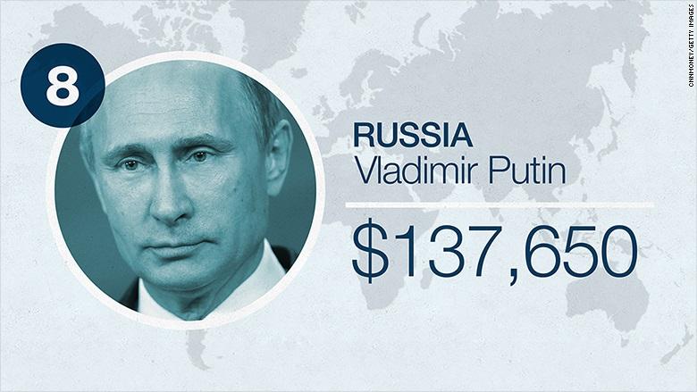 Lương của Trump, Putin, Tập Cận Bình: Ai cao hơn? - 9