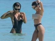"""Thời trang - """"Nữ hoàng bikini"""" thả dáng sexy giữa biển xanh"""
