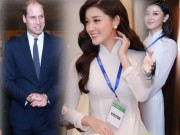 Thời trang - Á hậu Huyền My đẹp rạng ngời đón chào hoàng tử Anh William