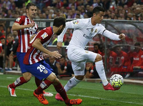 """Real đá derby Madrid: """"Cột chống trời"""" Ronaldo - 1"""