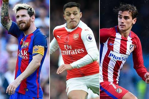 Không chỉ Messi, Man City săn cả Griezmann và Sanchez - 2