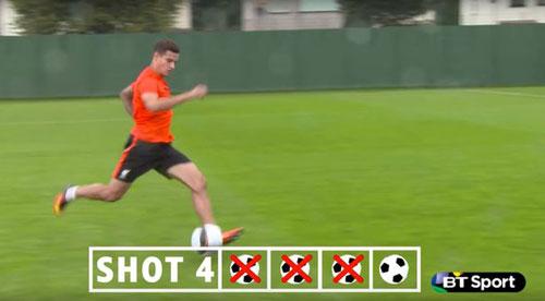 Coutinho vất vả tái hiện siêu phẩm kì diệu Bergkamp - 3