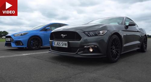 """Xem """"cuộc đối đầu"""" giữa Focus RS với Mustang GT - 1"""