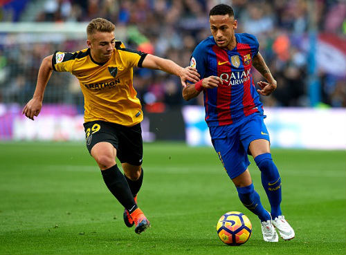 Barcelona - Malaga: Ngôi sao cô đơn Neymar - 1