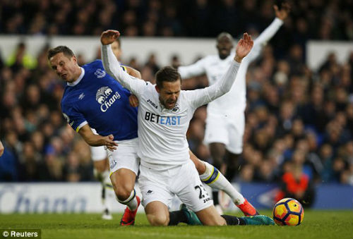 Everton - Swansea City: Đảo chiều phút cuối - 1