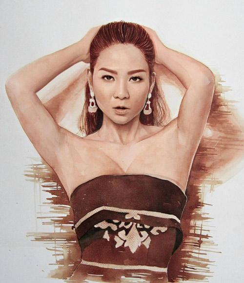 9X vẽ tranh Tóc Tiên lên tạp chí nghệ thuật nổi tiếng nước Mỹ - 9