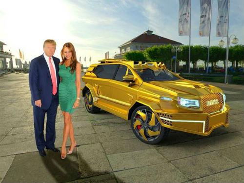Sẽ có xe bọc vàng tháp tùng ông Donald Trump? - 1