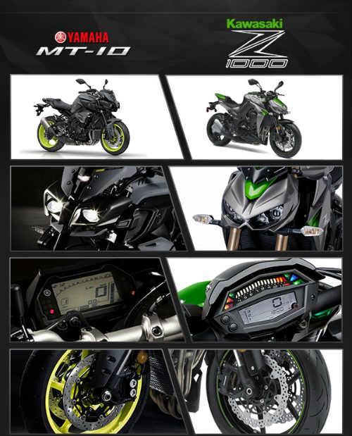 So thắng thua giữa Yamaha MT-10 và Kawasaki Z1000 - 8