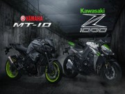 Thế giới xe - So thắng thua giữa Yamaha MT-10 và Kawasaki Z1000