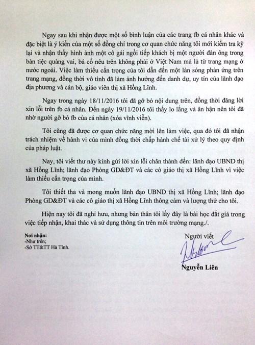 Xử phạt người đăng Facebook bịa đặt về giáo viên Hà Tĩnh - 3