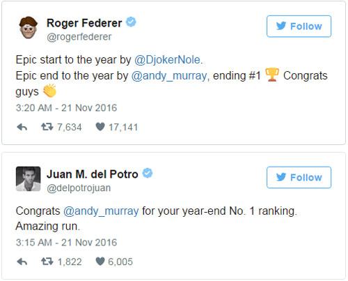 Federer & báo chí ngả mũ trước người hùng Murray - 1