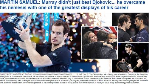 Federer & báo chí ngả mũ trước người hùng Murray - 5