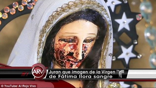 """Phát hiện tượng Đức Mẹ Đồng Trinh """"khóc ra máu"""" ở Mexico - 1"""