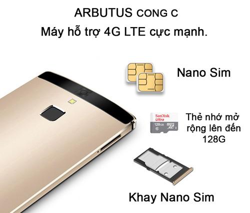 Chính thức ra mắt Arbutus Cong C Ram 3GB bảo mật vân tay - 3