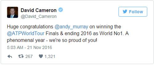 Tennis 24/7: Murray được VIP, SAO chúc mừng tới tấp - 2