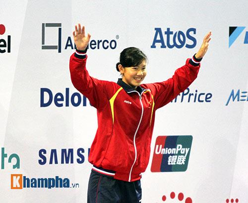 Ánh Viên giành 4 HC châu Á: Xuất sắc nhưng chưa nhất - 1