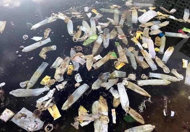 Hy hữu: Bao cao su, băng vệ sinh nổi trắng hồ ở Hà Nội - 2