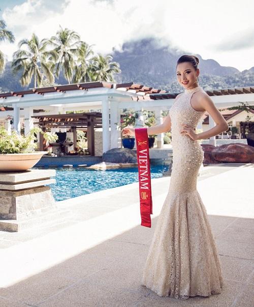 Ngắm váy đính ngọc trai của mỹ nhân Việt thi HH Châu Á - 3