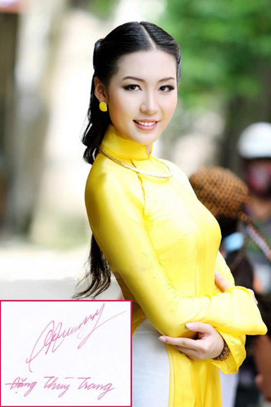 So kè chữ viết của dàn hoa - á hậu Việt - 7