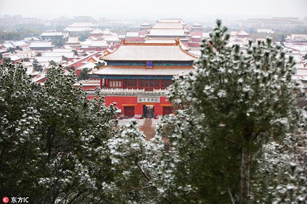 Tuyết đầu mùa phủ trắng Trung Quốc - 1