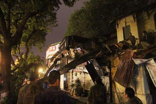 Hà Nội: Cây cổ thụ bất ngờ đổ vào nhà dân trong đêm - 2