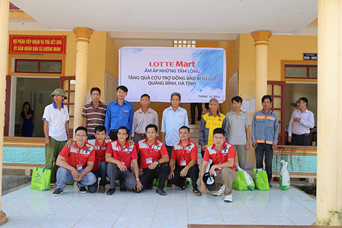 LOTTE Mart trao 600 phần quà cứu trợ cho đồng bào 2 tỉnh Hà Tĩnh, Quảng Bình - 3