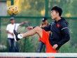 Xuân Trường, Ngọc Hải trình diễn kỹ thuật ở sân tennis