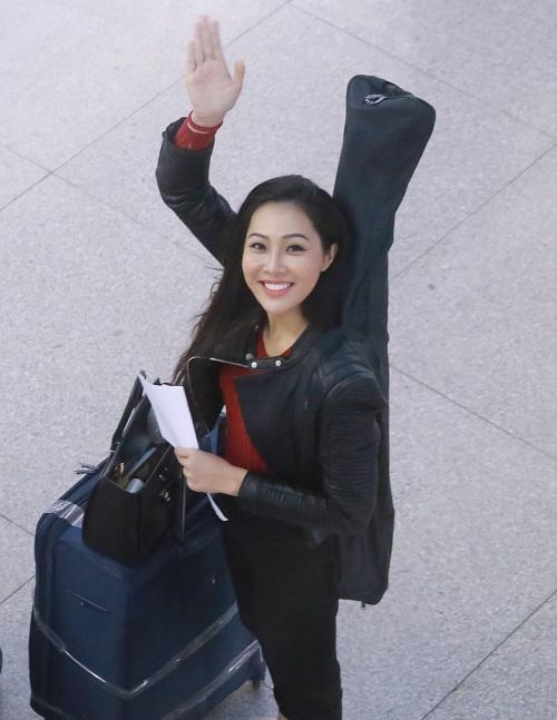 Hoa khôi Diệu Ngọc mang 100kg hành lý đi thi Miss World - 3