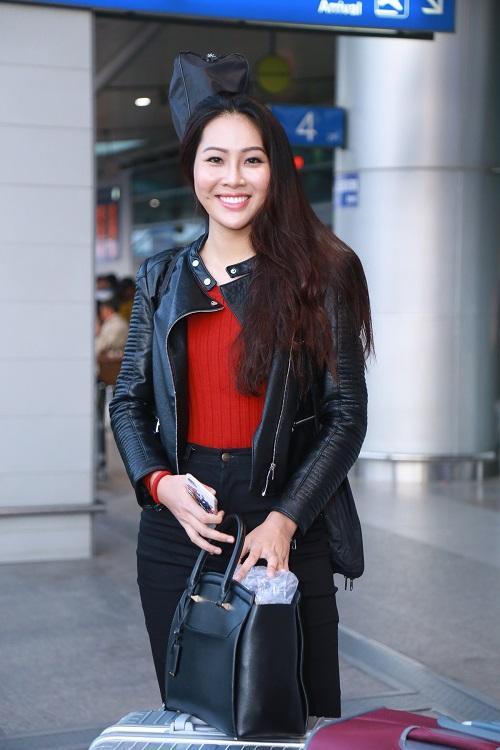 Hoa khôi Diệu Ngọc mang 100kg hành lý đi thi Miss World - 6