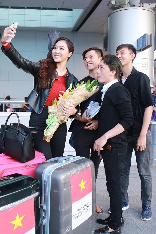 Hoa khôi Diệu Ngọc mang 100kg hành lý đi thi Miss World - 8