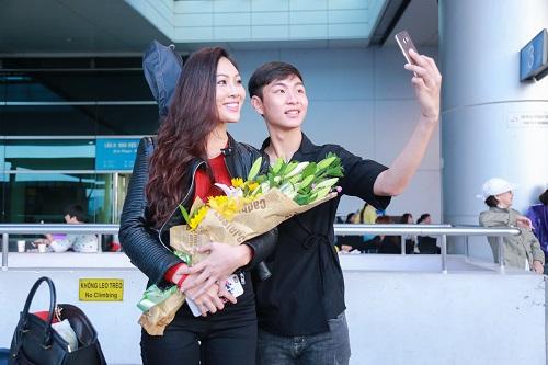 Hoa khôi Diệu Ngọc mang 100kg hành lý đi thi Miss World - 9