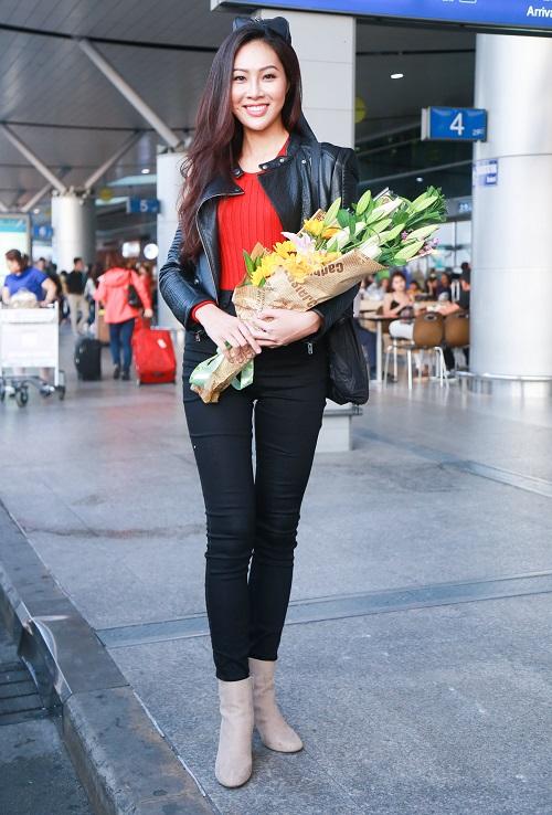 Hoa khôi Diệu Ngọc mang 100kg hành lý đi thi Miss World - 10
